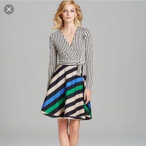 DVF striped Amelia dress